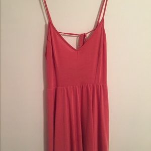 Pink dress with back detail